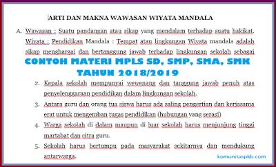 Materi MPLS SD, SMP, SMA, SMK Tahun 2018/2019