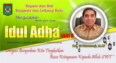 Kepala Beserta Staf Bappeda Kobi Mengucapkan Selamat Hari Raya Idul Adha 1441 Hijriyah