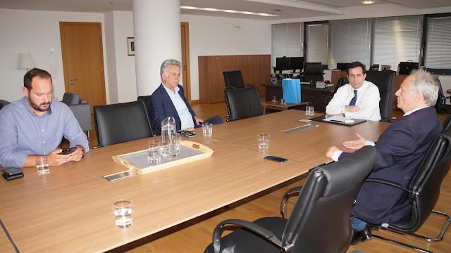 Συνάντηση του Δημάρχου Ερμιονίδας με τον Υπουργό Μετανάστευσης & Ασύλου Νότη Μηταράκη