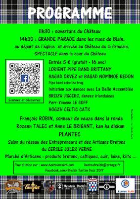 Programme de Breizh Tartan Deiz 2017