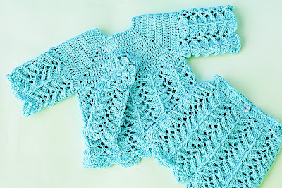 4 - Crochet IMAGEN Pantalón a juego con chambrita a crochet muy fácil y rápida. MAJOVEL CROCHET