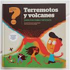 Ilustración de varias personas huyendo de un volcán en erupción