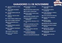 GANADORES LA PROMO REGALONA GLORIA 11 DE NOVIEMBRE