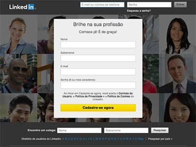Site de vagas LinkedIn