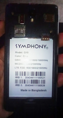Symphony G10 Falsh File Hang Logo Firmware