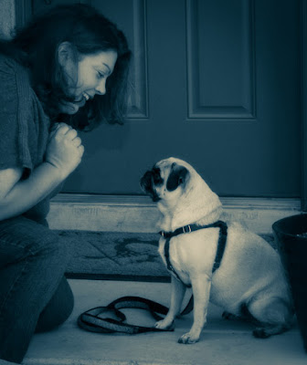 Shelly Volsche with her dog Lucy. Post, a love letter to loss, on losing a pet in covid times