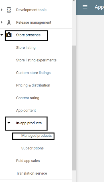 In-App Purchases in Google Play Console
