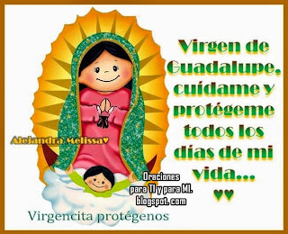Resultado de imagen para oraciones cortas de la virgen de guadalupe