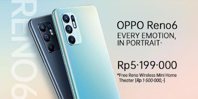 Spesifikasi Lengkap OPPO Reno6 dan Harganya