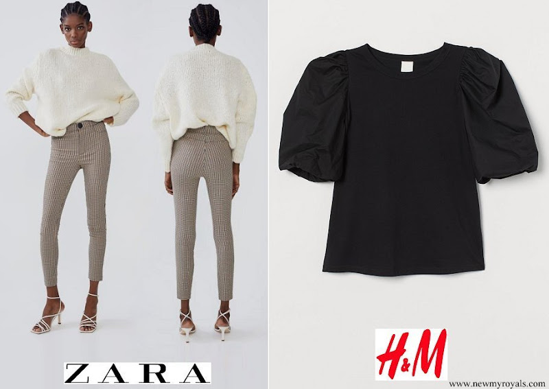 Princess Alexia wore Zara High Waist Leggings and H&M Balloon Sleeved Top