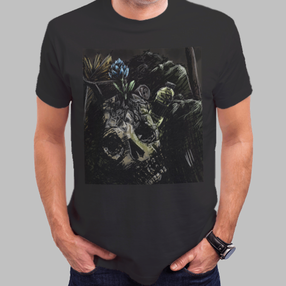 "graphic tshirt ""Garbage: frustration"" por The Green Zombie"