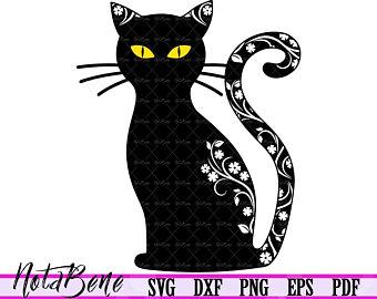 Black Cat Svg Halloween Svg Dxf Cute Svg