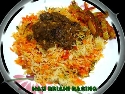 Resepi Nasi Briyani Daging