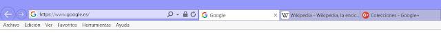 Pestañas del navegador con favicon