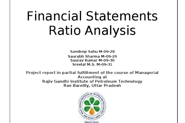 Project report on Financial Statement Analysis of A Company