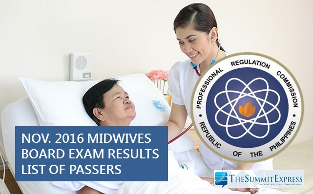 Midwife board exam results November 2016