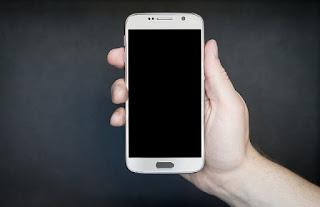 Holding phone mockup