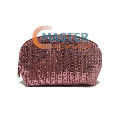 pink sequin bag