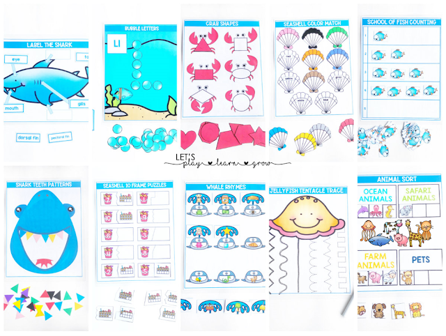 Ocean Activity Binder Activities
