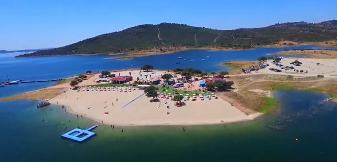 Praia Fluvial de Monsaraz - Vista Aérea