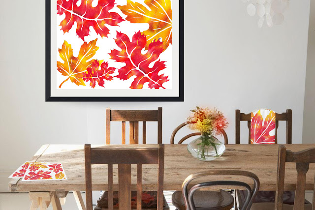 vivid bright art for Thanksgiving decor