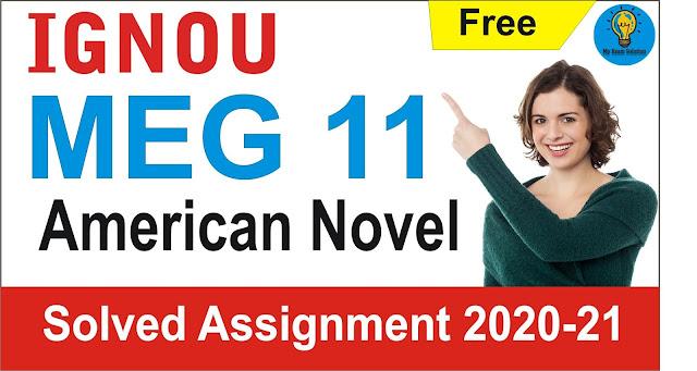 MEG 11 Solved Assignment; MEG 11 American Novel  Solved Assignment 2021 – 2021