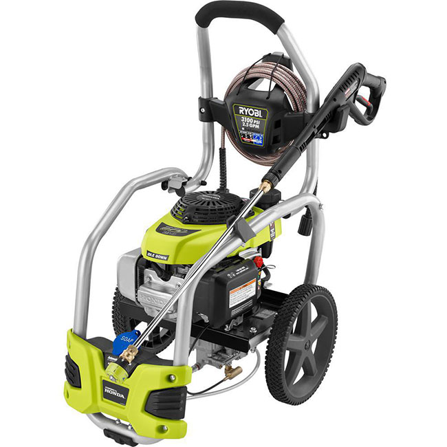 Ryobi 3100 psi 2.5 gpm Honda Gas pressure washer with idle down