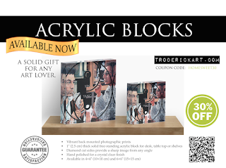 30% off Acrylic Blocks at www.troderickart.com