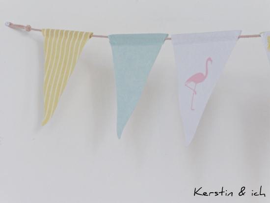 Wimpelkette mit Flamingo