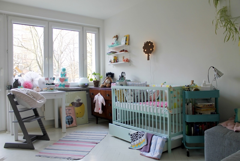 kawalerka, dziecko w kawalerce, bloggers baby shower, skandynawski kącik dla dziecka, vintage