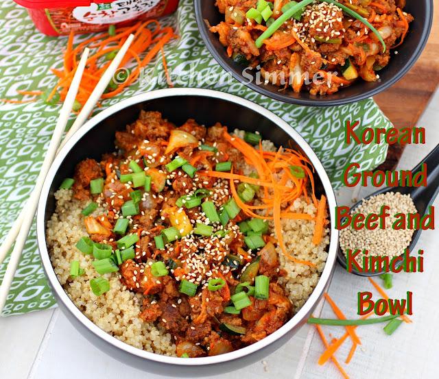 Green Kitchen Kimchi: Kitchen Simmer: Korean Ground Beef And Kimchi Bowl