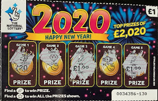 2020 Happy New Year Scratchcard