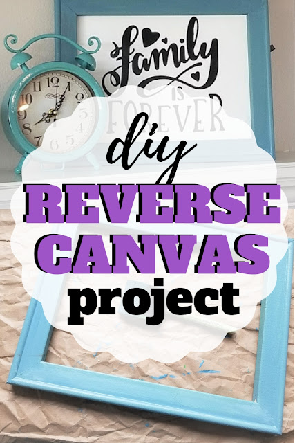 Follow along with this easy DIY step by step tutorial on how to do a reverse canvas using vinyl and cutting on your Cricut Maker or Silhouette cutting machine.