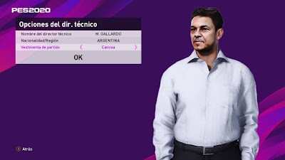 PES 2020 ML Manager Mod Marcelo Gallardo by Octavio