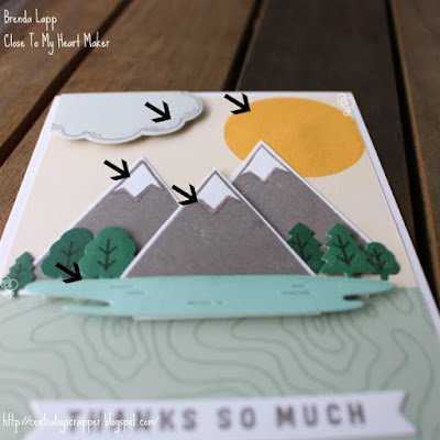 close-up card created with Wander—Cardmaking Stamp + Thin Cuts