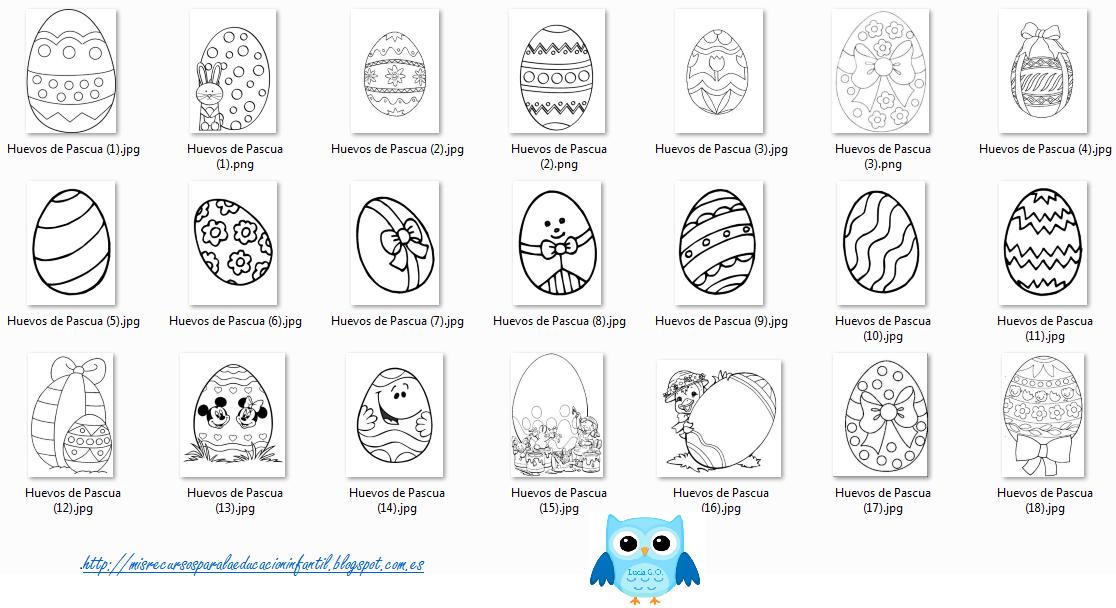 Play Learn Huevos De Pascua Para Colorear