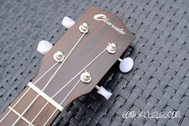 Clearwater roundback concert ukulele headstock
