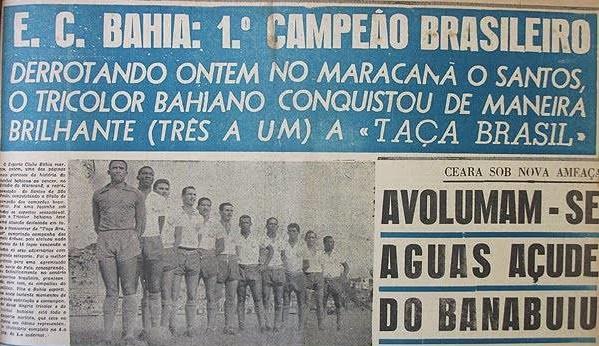 Bahia Jornal Campeão Taça Brasil
