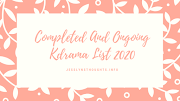 Completed And Ongoing Kdrama List 2020