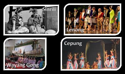 Teater dari Sulawesi Selatan, Betawi, Kalimantan Selatan dan Bali