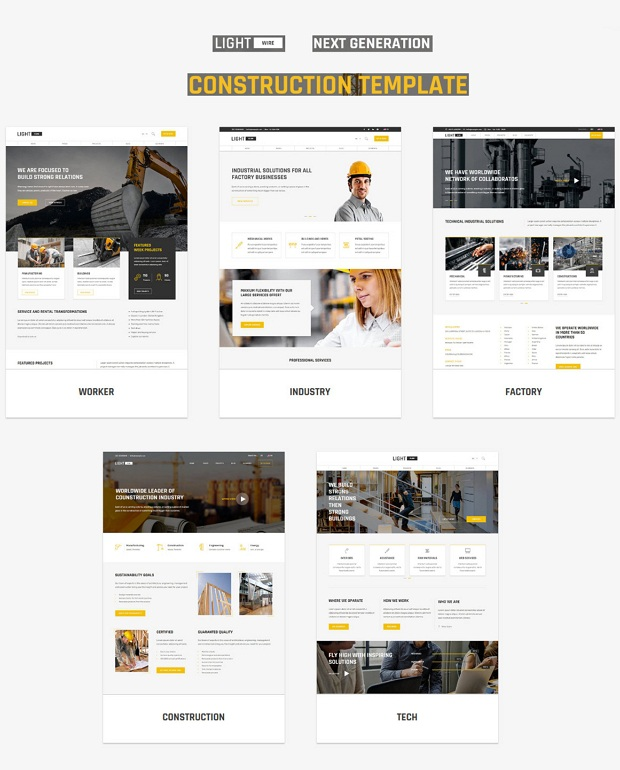 Lightwire - Construction And Industry Drupal Theme