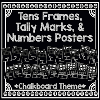 https://www.teacherspayteachers.com/Product/Tens-Frames-Tally-Marks-Numbers-Posters-Chalkboard-Theme-2001093