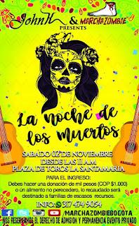 """Marcha Zombie Bogotá 2019 """"La noche de los muertos"""""""