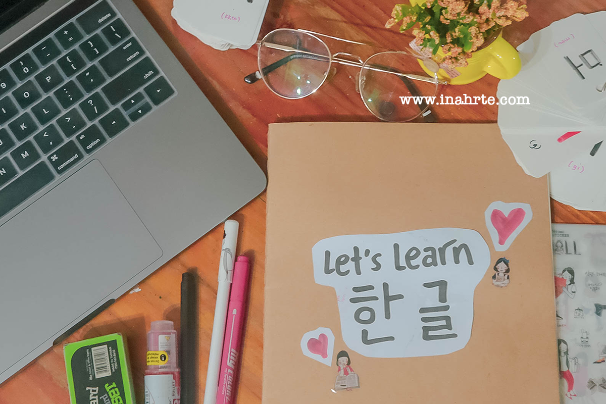 inahrte | study korean hanguel with me | how to learn korean 1