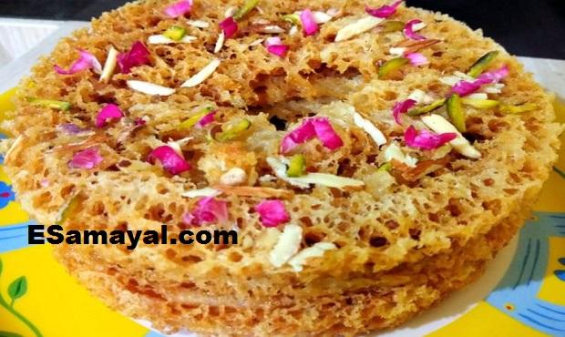 மல்டி லேயர்டு கீவர் ரெசிபி   Multi-layered Ghevar Recipe !