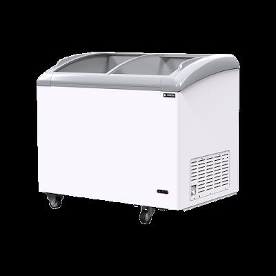 Tủ đông kính cong Sanden intercool SNC-0285 dung tích 330 Lít