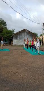 योग दिवस पर भारतीय जनता पार्टी पेटलावद नगर मंडल द्वारा किया गया योग