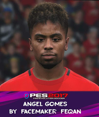 Angel Gomes Face Pes 2017 by Feqan