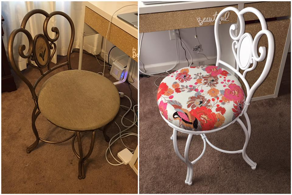 Vanity Chair Makeover Diy Projects By Nina