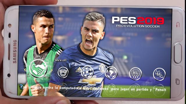 SAIU!! PES 2019 PPSSPP FACES REALISTAS CÂMERA DE PS4 + KITS & ELENCOS 2019 (ISO CHELITO 19)